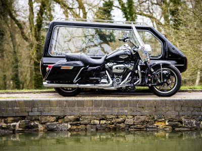 PICTURES COPYRIGHT  TO BETH WALSH [contact Beth on 07888753521] LICENCE FOR MOTORCYCLE FUNERAL